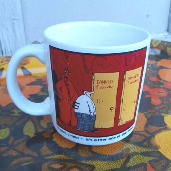 VINTAGE COFFEE MUG 1985 FAR SIDE COMIC